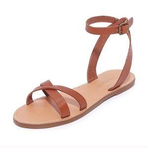 Madewell Boardwalk Ankle Strap Sandal 7.5 Brown